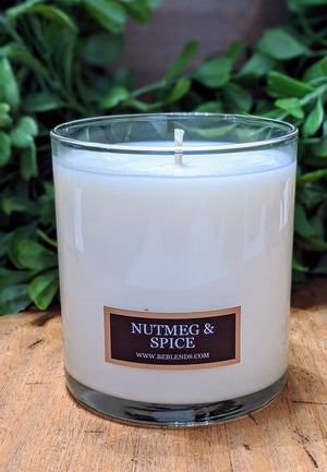 Nutmeg & Spice Glass Tumbler Soy Candle