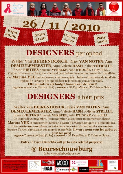 A Designers Night In Brussels: Knitting Against AIDS