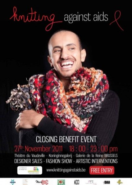 Closing Benefit Knitting Against AIDS On November 27 In Brussels