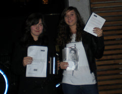 Laura Günnewig and a friend from Freiburg, Germany. They went out on the streets and raised more than 50 €!