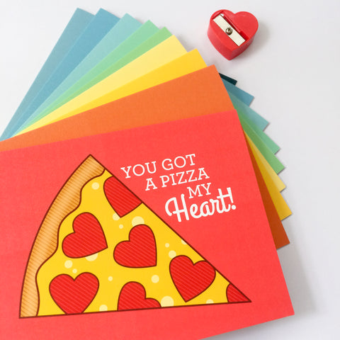 Greeting Cards - pizza card