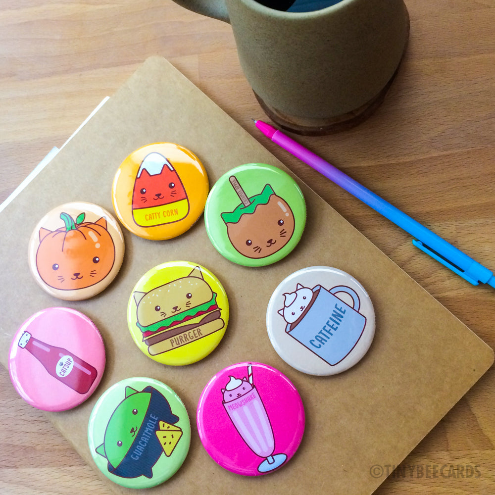 cat foods buttons