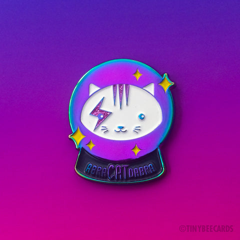 Magical Crystal Ball Cat Enamel Pin AbraCATdabra