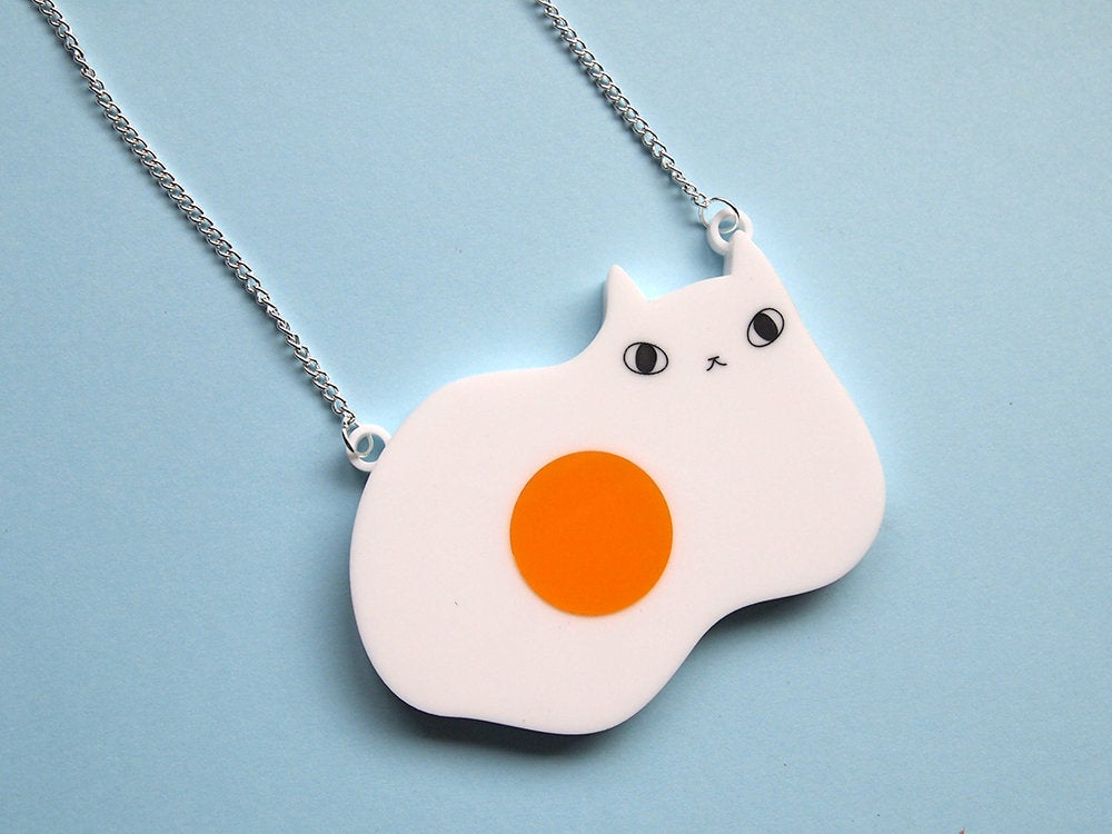 Egg Cat Necklace