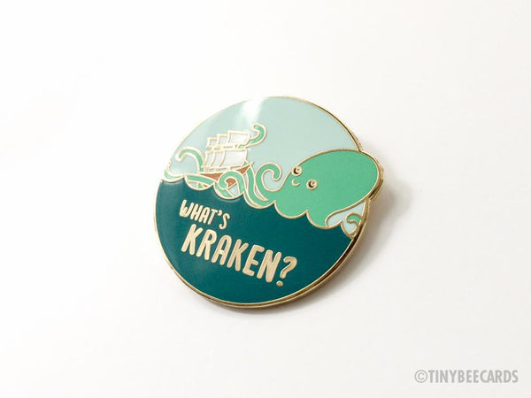 What's Kraken Hard Enamel Pin-Enamel Pin-TinyBeeCards