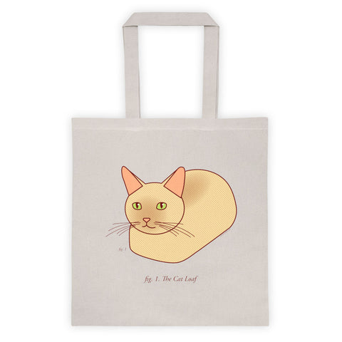 Cat Loaf Tote Bag - cat bag, cat lady gifts, animal lover tote bag, funny tote, cat lover gift, funny gifts, cat lover, funny shopping bag