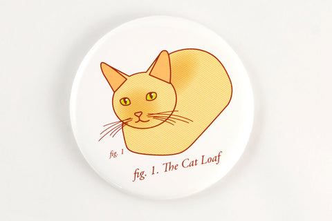 Funny Cat Loaf Magnet, Pin, or Mirror-Button-TinyBeeCards