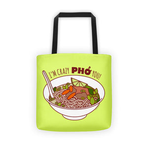 Crazy Pho You Tote Bag-Bags-TinyBeeCards