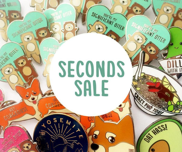 SECONDS SALE - Enamel Pins, lapel pins, B grade enamel pins, pin seconds, minor flaws, boyfriend girlfriend gift, cute lapel pin, pin badge