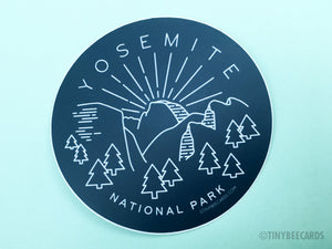 Yosemite National Park Sticker  - nature lover gift, laptop sticker, national park gifts, outdoorsy gifts, car sticker, waterproof sticker