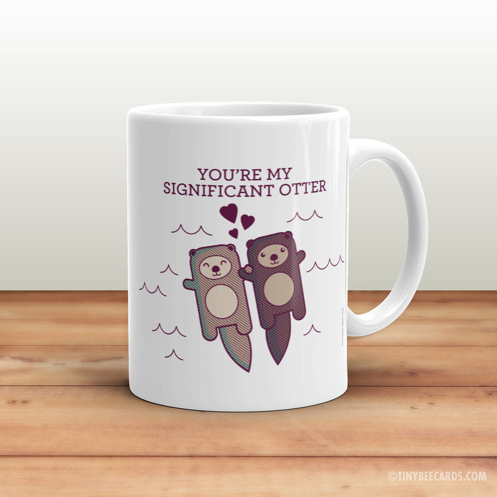 Significant Otter Coffee Mug - gift for boyfriend girlfriend husband or wife, romantic gifts, christmas or birthday gift for her or him
