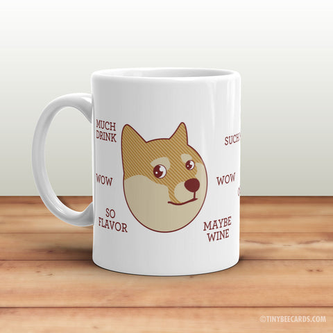 Funny Doge Mug - Internet Meme, Shibe Doge, Wow Coffee Plz, Shiba Inu Dog Mug, Holiday Gifts, Funny Gifts, Geek Gifts, Stocking Stuffer