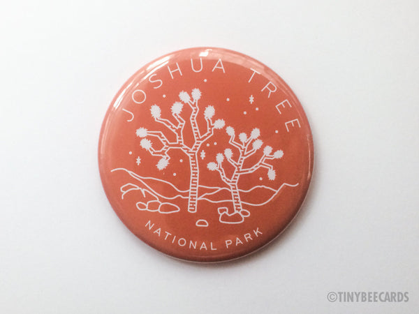 Joshua Tree National Park Magnet, Pin, or Pocket Mirror-Button-TinyBeeCards