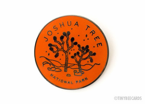 Joshua Tree Enamel Pin - national park lapel pin gift, cloisonne pin, nature lover gift, outdoorsy gifts, flair game, pin game, circle pin