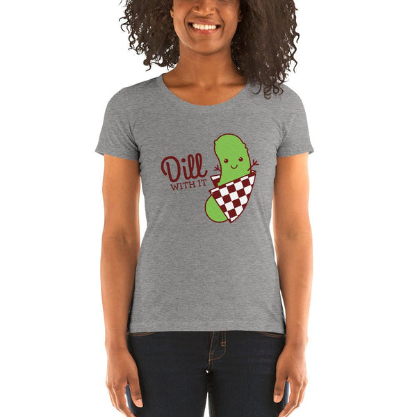 Dill With It Pickle Triblend T-shirt-T-Shirt-TinyBeeCards