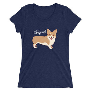 "Corgi T-Shirt ""Hey Corgeous"" - funny t-shirt, valentine gift, corgi lover gifts, gifts for women & men, men's women's shirts, dog lovers"