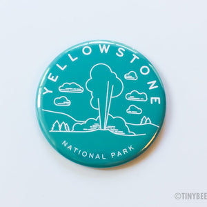 Yellowstone National Park Magnet, Pin, or Pocket Mirror