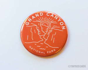 Grand Canyon National Park Magnet, Pin, or Pocket Mirror - national parks pin, Grand Canyon badge, desert gifts, nature gifts, Arizona US