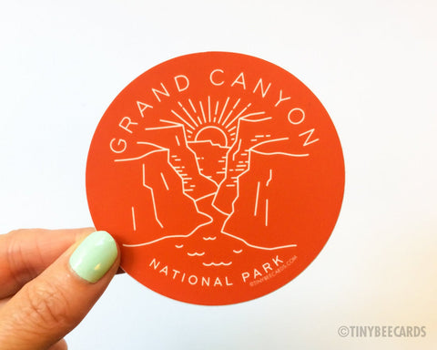 Grand Canyon National Park Sticker  - water bottle sticker, outdoorsy national park gifts, gift for him her, nature lover gift, Arizona US