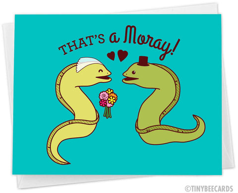 "Funny Wedding Card ""That's A Moray!"""