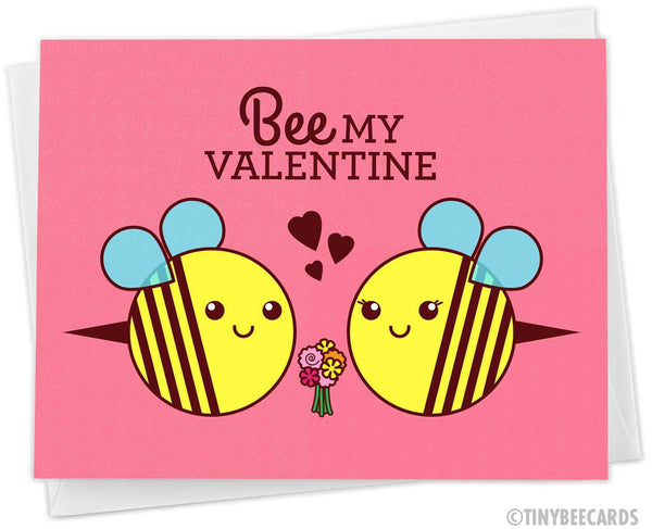 "Valentines Day Card ""Bee My Valentine"""