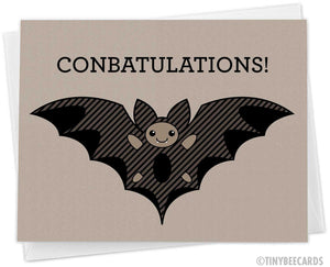 "Bat Greeting Card ""ConBATulations!"""
