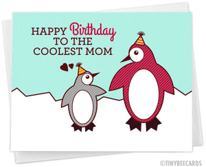 "Mom Birthday Card ""Coolest Mom!"""