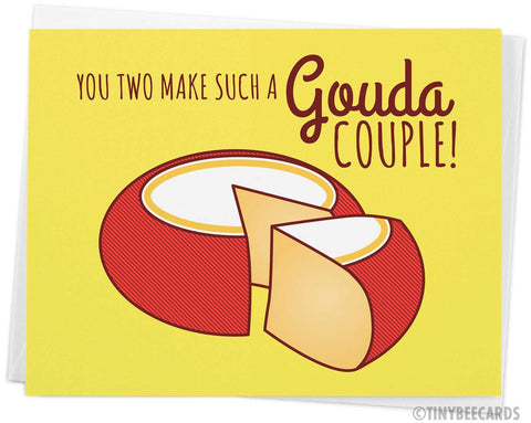 "Funny Cheese Wedding Card ""Gouda Couple"""