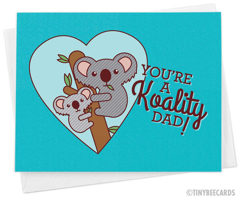 "Funny Koala Father's Day Card ""Koality Dad"""