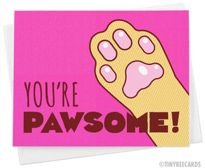 "Cat Card ""You're Pawsome!"""