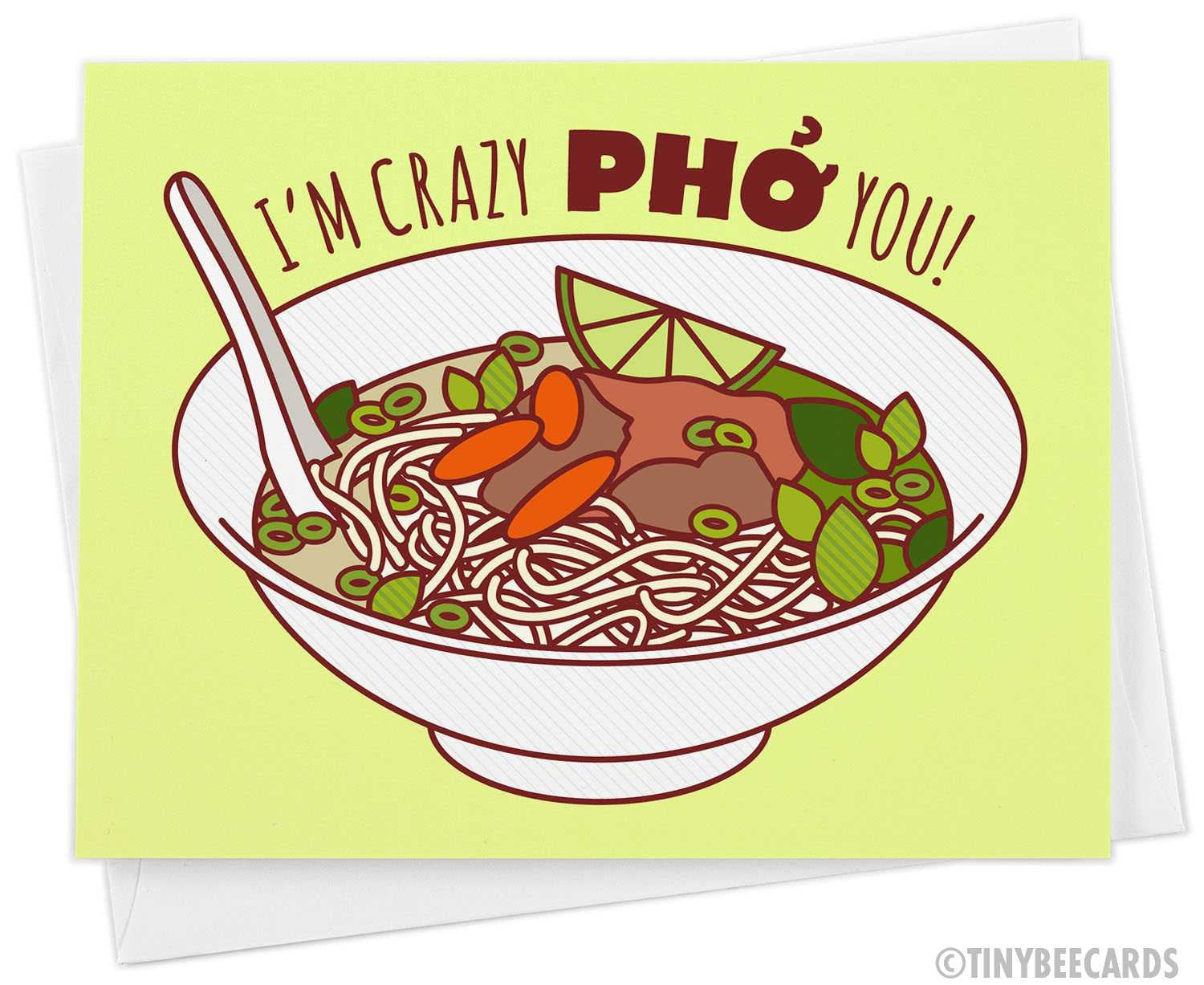 "Funny Anniversary or Love Card ""Crazy Pho You"""