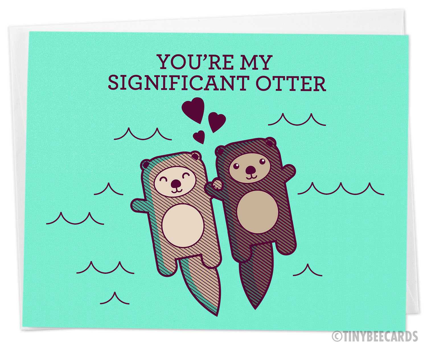 Cute Card 'You're My Significant Otter'