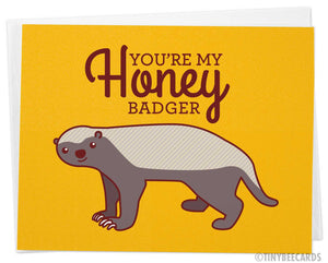 "Nerdy Love Card ""You're My Honey Badger"""