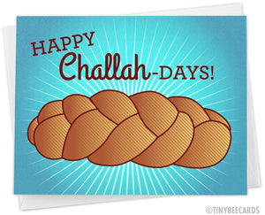 "Funny Hanukkah Card ""Happy Challah Days"""