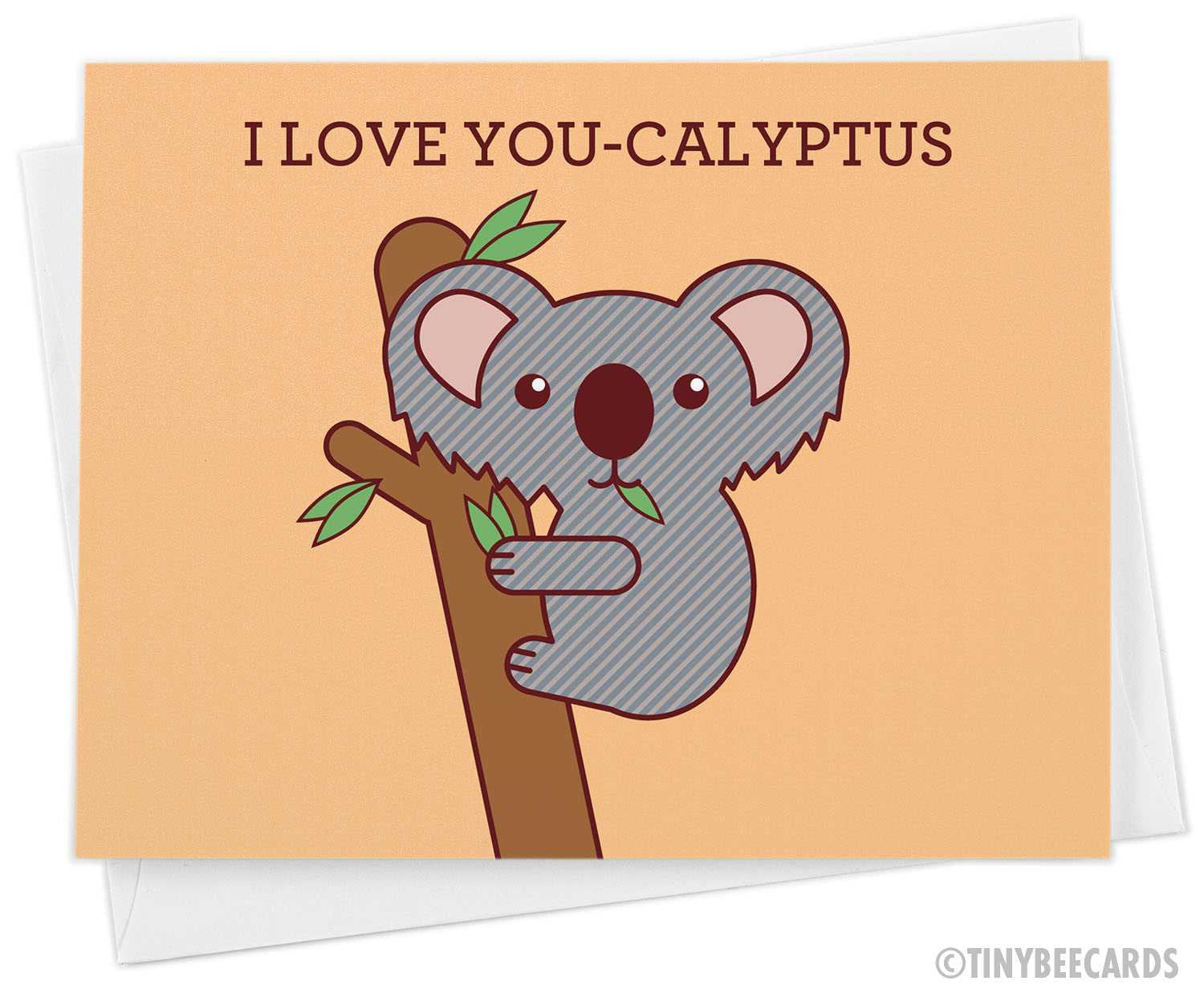 "Koala Love Card ""I Love You-Calyptus"""
