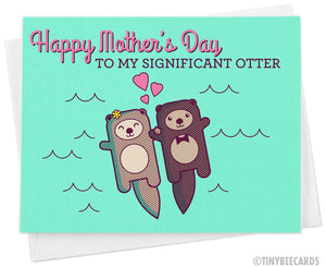 "Cute Mother's Day Card for Wife ""Happy Mother's Day to my Significant Otter"""