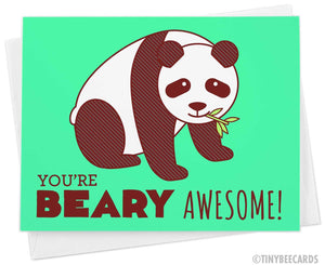 Love or Friendship Card, You're Beary Awesome!