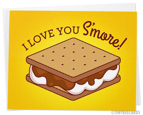 "Funny Love Card ""I Love You S'more!"""