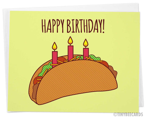 "Taco Birthday Card ""Happy Birthday!"""