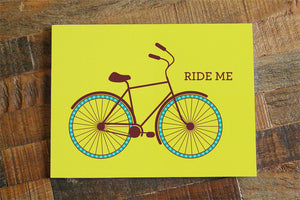 Funny Adult Card 'Ride Me' - funny card for boyfriend girlfriend wife husband, naughty valentines day card, sexy card, adult humor card
