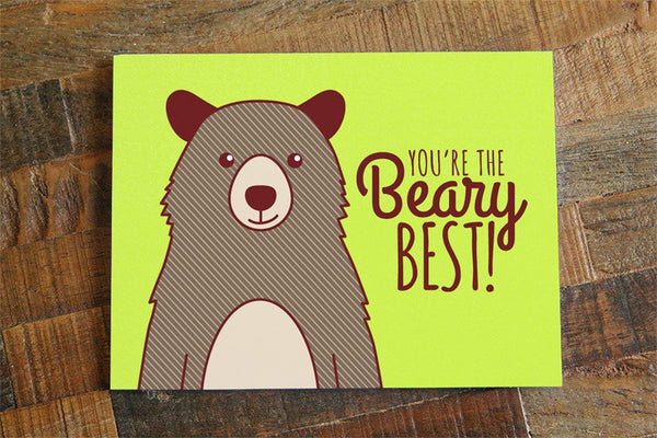 Friendship or Love Card, You're the Beary Best!