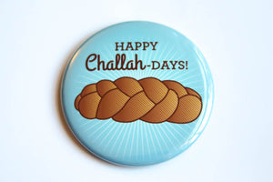 Challah Magnet, Pin, or Mirror-Button-TinyBeeCards