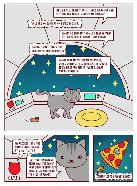 SpaceCat and PizzaShip Comic Book