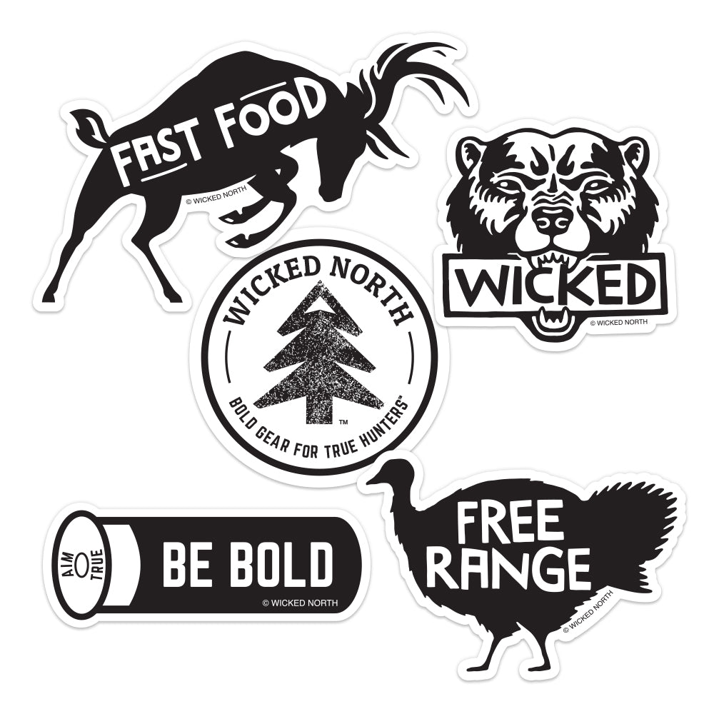 Wicked Wilderness™ Sticker Pack