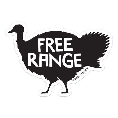Free Range Turkey Sticker