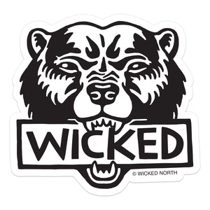 Wicked Bear Sticker