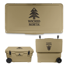 Load image into Gallery viewer, Wicked North x Big Frig 70 QT Badlands Wheeled Cooler - Multiple Colors