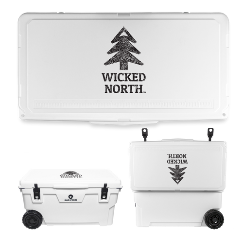 Wicked North x Big Frig 70 QT Badlands Wheeled Cooler - Multiple Colors