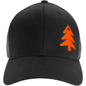 All Black with Blaze Tree (Richardson 112) Hat