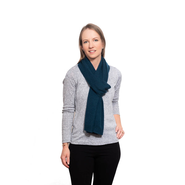 Teal Cashmere Essential Scarf